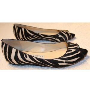 Jimmy Choo Animal Print flat sandals 8